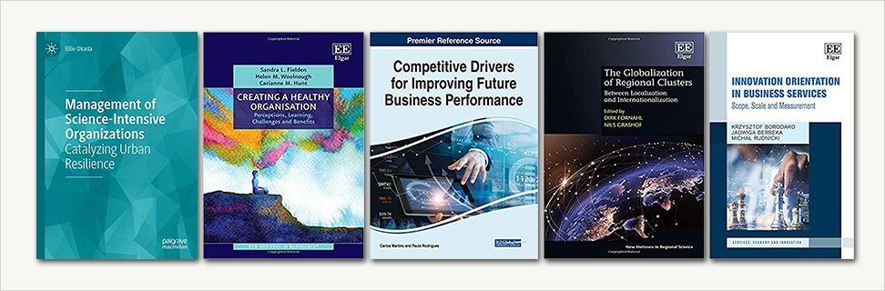 Forsider fra nye bøger om business