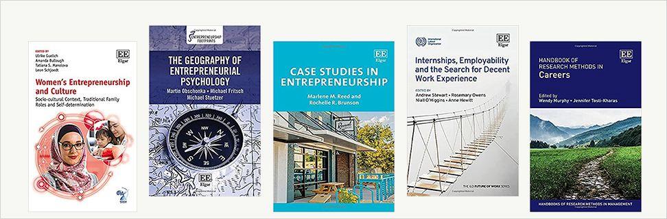 Forsider fra nye bøger om karriere og iværksætteri