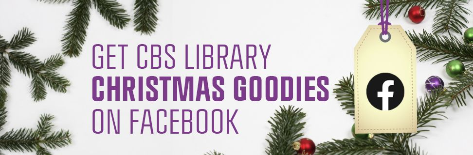 Follow CBS Library's Christmas Calendar on Facebook