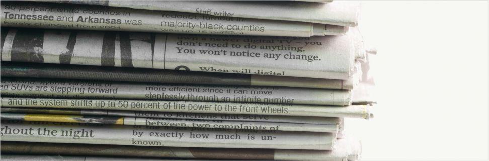 En stak aviser