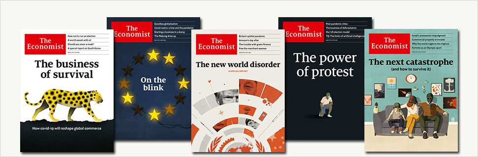 Front covers from Economist