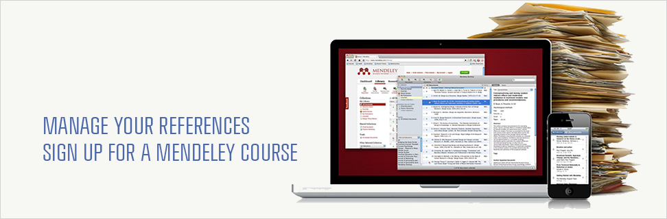 Organize your references with Mendeley